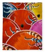 Silk Umbrella Factory Fleece Blanket