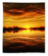 Silky Sunset  Fleece Blanket