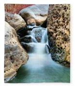 Silky Waters Of Jemez Springs Fleece Blanket