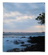 Silky Waves At Dusk Fleece Blanket
