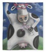 Silly Cow Fleece Blanket