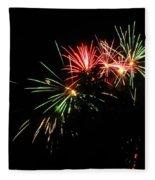 Silute 500. Lithuania. Fireworks 01 Fleece Blanket