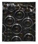 Silver And Gold Collage Fleece Blanket