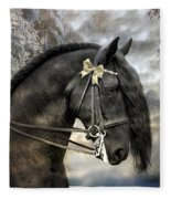 Silver And Gold Fleece Blanket