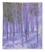 Silver Birch Magical Abstract  Fleece Blanket