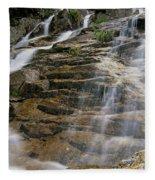 Silver Cascades - Crawford Notch New Hampshire Fleece Blanket