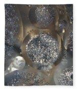Silver Circles Fleece Blanket