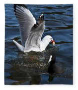 Silver Gull And Australian Coot Fleece Blanket