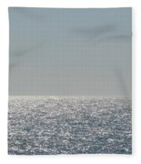 Silver Light On Lake Michigan Fleece Blanket