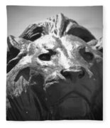 Silver Lion Fleece Blanket