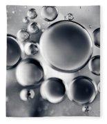 Silver Macro Droplets Fleece Blanket