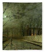 Silver Moonlight Fleece Blanket