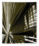Silver Palm Fleece Blanket