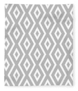 Silver Pattern Fleece Blanket by Christina Rollo