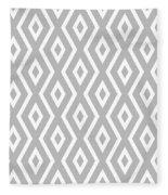 Silver Pattern Fleece Blanket