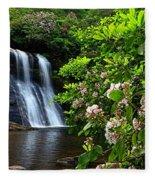 Silver Run Falls Mountain Laurel Fleece Blanket