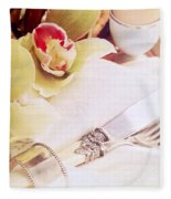 Silver Service Breakfast Setting Fleece Blanket