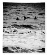 Silver Surfers Fleece Blanket