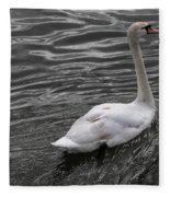 Silver Swan Fleece Blanket
