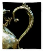 Silver Tea Pot Handle - Digital Oil Art Work Fleece Blanket