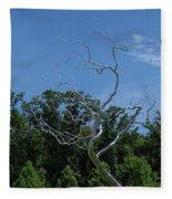 Silver Tree Fleece Blanket