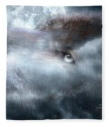 Silver Wolf Fleece Blanket
