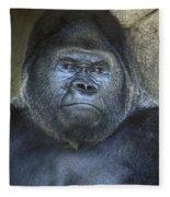 Silverback Portrait Fleece Blanket