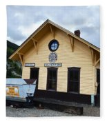 Silverton Train Depot Fleece Blanket