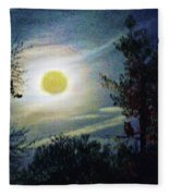 Silvery Moon Glow Fleece Blanket