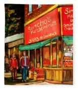 Simchas  Fruit Store Fleece Blanket