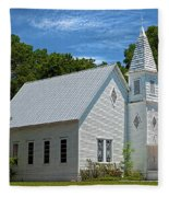 Simple Country Church Fleece Blanket