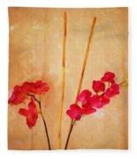 Simple Floral Arrangement  Fleece Blanket