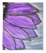 Simple Purple  Fleece Blanket