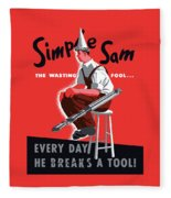 Simple Sam The Wasting Fool Fleece Blanket