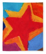 Simple Star-straight Edge Fleece Blanket