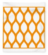 Simplified Latticework With Border In Tangerine Fleece Blanket