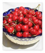 Simply A Bowl Of Cherries Fleece Blanket