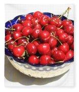 Simply A Bowl Of Cherries Fleece Blanket