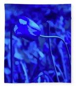 Simply Blue Pink Tulip Fleece Blanket