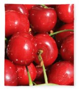 Simply Cherries  Fleece Blanket