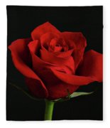 Simply Red Rose Fleece Blanket