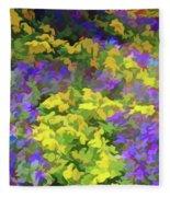 Simply Soft Colorful Garden Fleece Blanket