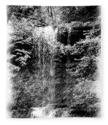 Simulated Pencil Drawing Tinker Falls. Fleece Blanket