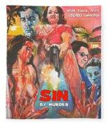 Sin By Murder Poster B Fleece Blanket