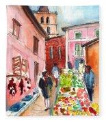 Sineu Market In Majorca 05 Fleece Blanket