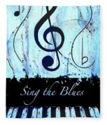 Sing The Blues Blue Fleece Blanket