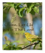 Sing To The Lord Fleece Blanket