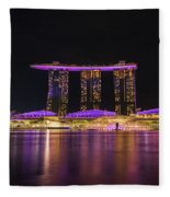 Singapore In Purple 1 Fleece Blanket
