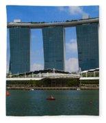 Singapore Ship Top Fleece Blanket