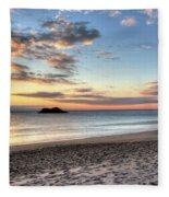Singing Beach Manchester Ma Sunrise Island Fleece Blanket